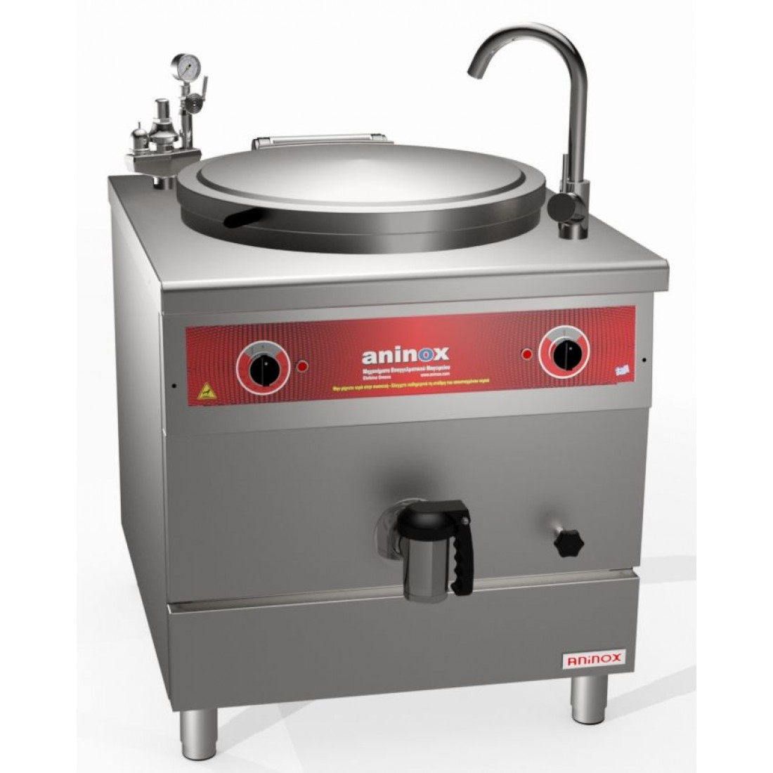 INDIRECT HEATING ELECTRIC BOILING PANS
